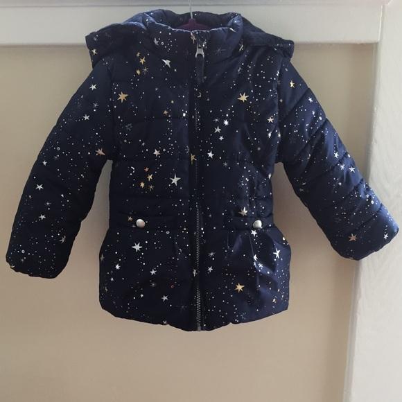 OshKosh B'gosh Other - OshKosh Star Print Heavyweight Fleece-Lined Coat